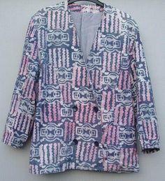 batik jasje in paars/rose tinten  Mt L Prijs: € 10,00