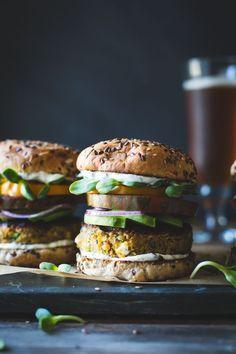 The Bojon Gourmet: Spiced Zucchini, Feta + Chickpea Veggie Burgers with Minted Yogurt Sauce