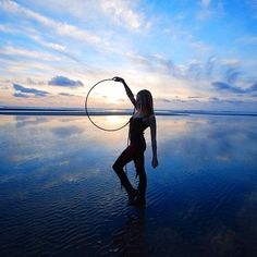 Sunset Hooping on the Beach with Christine Ciarcia |