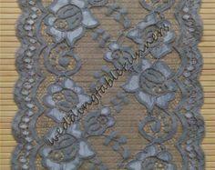 Pizzo grigio Table Runner, pizzo Table Runner, sovrapposizione di pizzo, pizzo Vintage, grigio decorazione di cerimonia nuziale, matrimoni grigio R15042601