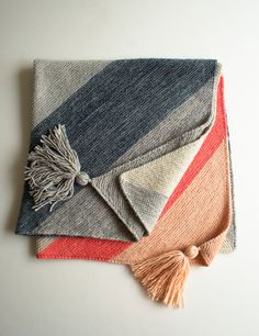 I love this! So simple, so elegant, so contemporary! Lauras Loop: Colorblock Bias Blanket - the purl bee