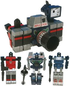 Reflector, a Decepticon comprised of three robots that transformed and combined to form a single camera.