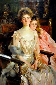 John Singer Sargent - Mrs. Fiske Warren and Her Daughter Rachel, 1903 at Boston Museum of Fine Arts by mbell1975, via Flickr