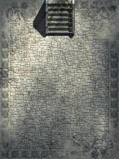 Battlemap - Entrée des sous terrains sous l'Eglise de Tristram