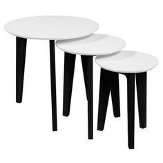 Set tří konferenčních stolků různých velikostí Alvin je ztělesněním jednoduchosti a elegance