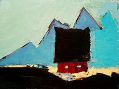 Sandra Pratt   Blue Mountains I   Oil on Linen