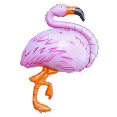 Pink Giant Flamingo Foil Balloon ideal for a flamingo birthday party or a tropical party!