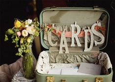 Great card box idea for rustic wedding! Someone find me an vintage suitcase STAT. Wedding Cards, Diy Wedding, Dream Wedding, Wedding Day, Wedding Reception, Wedding Table, Wedding Pins, Reception Ideas, Wedding Invitations