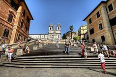 Spanish steps. Piazza di Spagna, via Flickr.