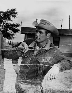 "Paul Newman on the set of ""HUD""."