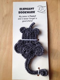 Ravelry: Elephant Bookmark pattern by Jelly Designs