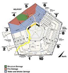 Pentagon Smoke Damage, Pentagon, Washington Dc, Map, September 9, Architecture, Travel, Arquitetura, Viajes
