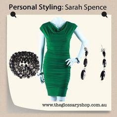 tawny emerald green dress