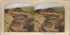 "Stereoview - Gold Mining - "" Working No. 4 Bonanza, Klondike "" - Alaska."