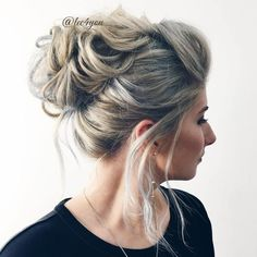 Looped Messy Updo