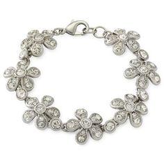 Monet® Silvertone Flower Bracelet - jcpenney