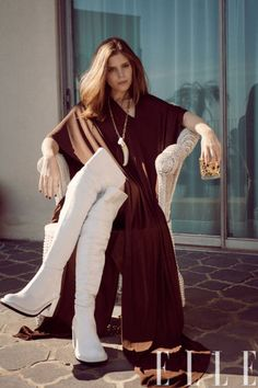 Kate Mara's 70s-inspired fashion shoot for ELLE Magazine