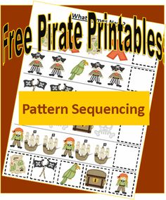 As a Mom of boys, I get to learn a ton of things about pirates! For about 2 years, the only books in my paperback swap wish list were Pirate books. Preschool Pirate Theme, Pirate Activities, Preschool Themes, Pirate Day, Pirate Birthday, Math Patterns, Pirate Crafts, Pirate Adventure, Montessori