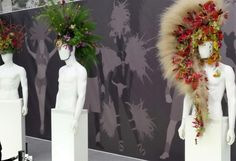 Flower mohicans, cross-dressing and tulip suits - a report from the 2016 RHS Chelsea Show. Rhs Flower Show, Rio Carnival, Headdress, Pavilion, Tulips, Chelsea, Seasons, Canvas, Flowers