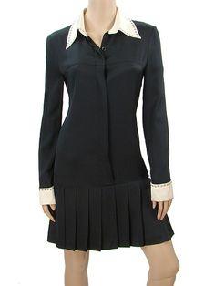 Chanel Black Silk Drop Waist Dress, Fall 2003