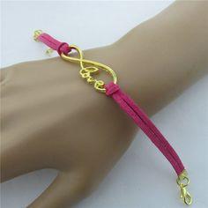 Romantic Love Velvet Rope Woven Bracelet