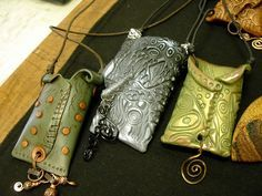 Amulet pouches Philadelphia Area Polymer Clay Guild, via Flickr
