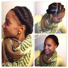 HEALTHY HAIR and BODY: Protective Style Lookbook || Flat Twists with Marley Hair