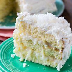 Coconut Celebration Cake via @FMSCLiving