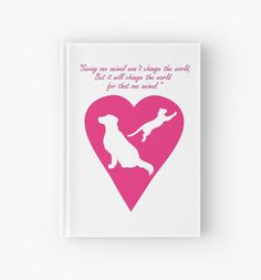 Dog and Cat Heart Hardcover Journal #pink #pets #cats #dogs #adopt