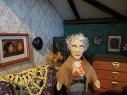 Miss Marple in her salon Tom Adams, Miss Marple, Dollhouse Dolls, Princess Zelda, Pocket