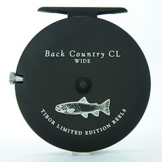 TIBOR COUNTRY WIDE REEL IN MATTE BLACK WITH TROUT ENGRAVING