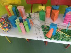 Plani i qytetit me trupa gjeometrik