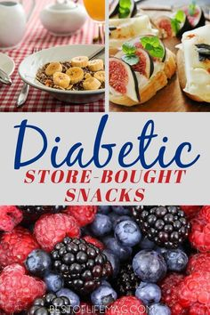 The best diabetic snacks store bought are the ones that help you manage your diabetes but also are delicious and easy to find. Easy Diabetic Meals, Diabetic Food List, Diabetic Meal Plan, Diabetic Desserts, Diabetic Friendly, Diabetic Snacks Type 2, Diabetic Dinner Recipes, Diabetic Tips, Pre Diabetic