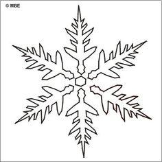 Free Christmas Stencils: Free Christmas Stencil: Snowflake 6