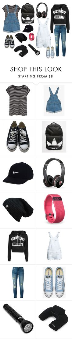 """""""Lets go camping!"""" by rheamenezes ❤ liked on Polyvore featuring MANGO, Monki, Converse, adidas, NIKE, Beats by Dr. Dre, Fitbit, Superdry, MICHAEL Michael Kors and SwissGear"""