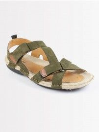 4209e4f0f19  Woodland Men Casual Olive Green 0048105 Sandals