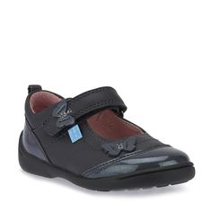be0f67d1d35e0 Swing in Gunmetal Leather/Patent Walking Shoes, Girls Shoes, Sneakers,  Leather,