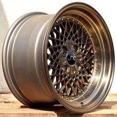 JNC045 Machined Bronze w/ Gold Rivets