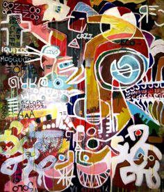 """Saatchi Online Artist: ziegler pierre; Acrylic, 2012, Painting """"Iquitos"""""""