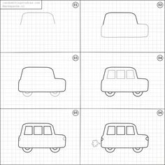 How to draw a car.