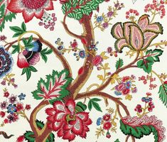Le Grand Arbre   Exquisitely embroidered Braquenié fabric from Pierre Frey
