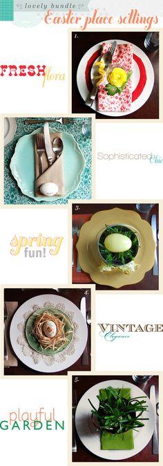 cute table settings for easter brunch.. plus I really like this blog, joyeverafter