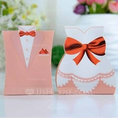 Favor Holders - $1.89 - Tuxedo & Gown Favor Boxes (Set of 6 Pairs) (050005791) http://jjshouse.com/Tuxedo-Gown-Favor-Boxes-Set-Of-6-Pairs-050005791-g5791