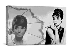 6/1/2012  $19.99  + FREE SHIPPING iCanvasART Audrey Hepburn Museum-Quality Giclee Canvas Art Print