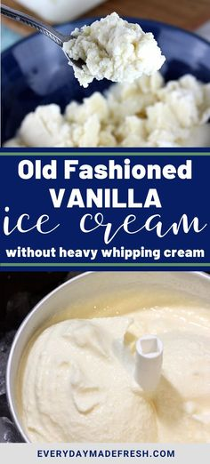 This recipe for Old Fashioned Homemade Vanilla Ice Cream has been in my family long before I was born. It's the one summer staple that everyone loves! And, you won't find heavy cream in our family recipe. Old Fashion Vanilla Ice Cream Recipe, Vanilla Ice Cream Maker Recipe, Frozen Desserts, Fun Desserts, Frozen Treats, Old Fashioned Homemade Ice Cream, Best Dessert Recipes, Sweets Recipes, Delicious Recipes