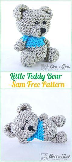 Amigurumi Crochet Sam, the Little Teddy Bear Free Pattern - Amigurumi Crochet Teddy Bear Toys Free Patterns