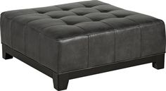 Cindy Crawford Home Palm Springs Slate Cocktail Ottoman x x Find affordable Cocktail Ottomans for your home that will complement the rest of your furniture. Tufted Ottoman Coffee Table, Ottoman In Living Room, Living Room Sectional, Chair And Ottoman, Yellow Ottoman, Brown Ottoman, Grey Leather Sectional, Leather Ottoman, Leather Chairs