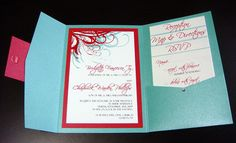 tiffany blue and red wedding pictures | Aqua (Tiffany Blue) and Red Wedding Invitations | Flickr - Photo ...