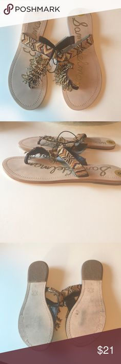 Sam Edelman Beaded Sandals Beaded flat sandals in neutral brown tones. Never worn except to try on at store/ home. Sam Edelman Shoes Sandals