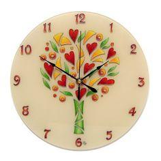 Egyedi, kézzel festet, üveg falióra, hangtalanul működő óraszerkezettel. Mandala, Clock, Wall, Home Decor, Watch, Decoration Home, Room Decor, Mandalas, Clocks